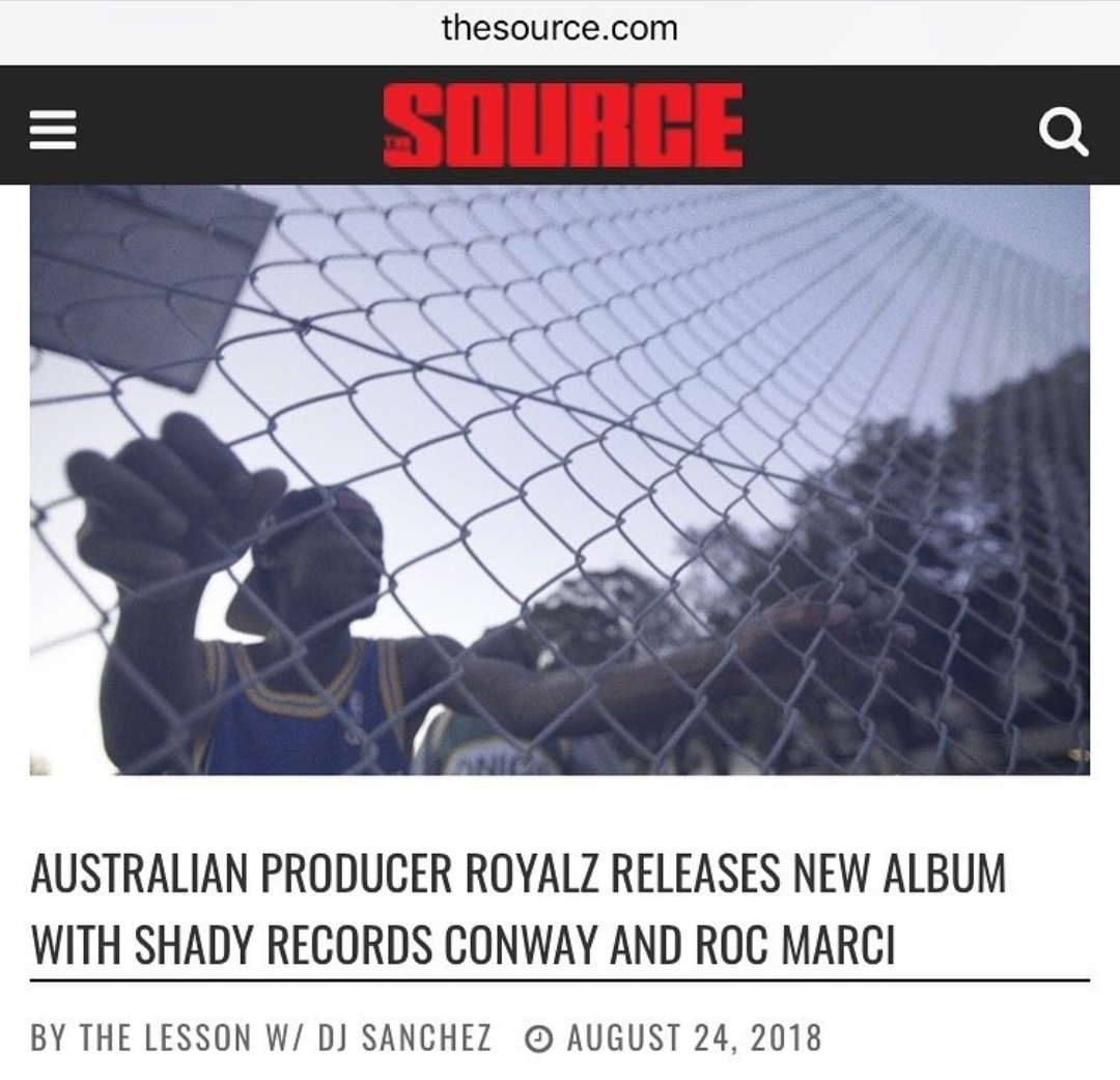 Royalz in The Source magazine 2018